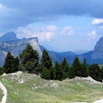 Balade à cheval au pied du Mont Aiguille