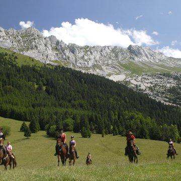 Le Vercors à cheval